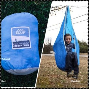 Equip Kid's Padded Nylon Hanging Cocoon Pod Chair,